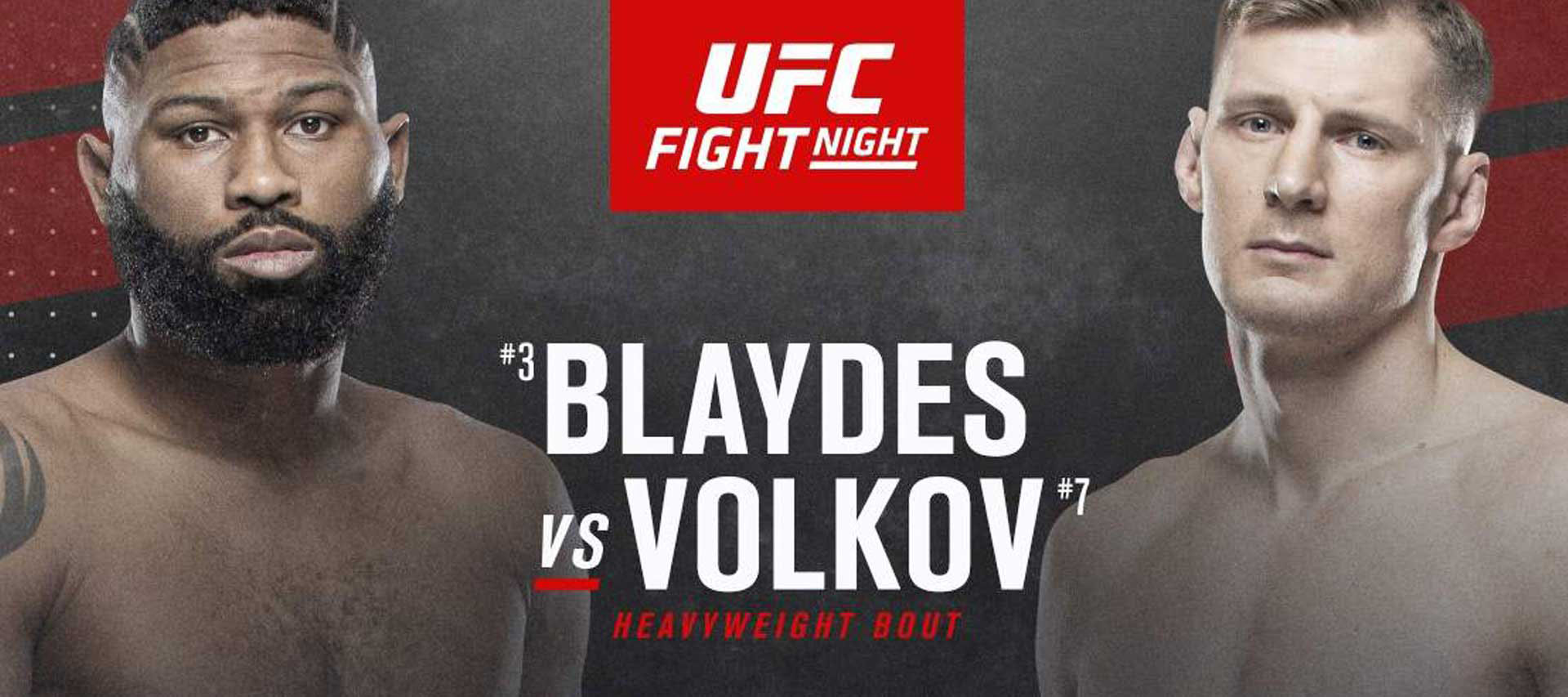UFC Fight Night: Blaydes vs Volkov
